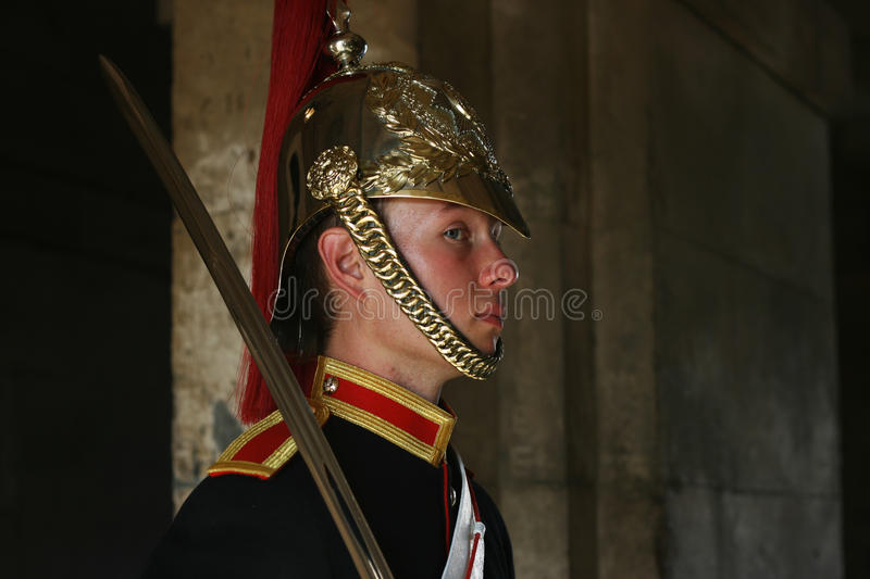 Download Guard at Whitehall, London editorial photo. Image of display - 21817601