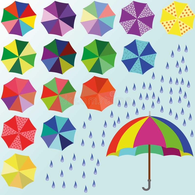 Guarda-chuva colorido ilustração royalty free