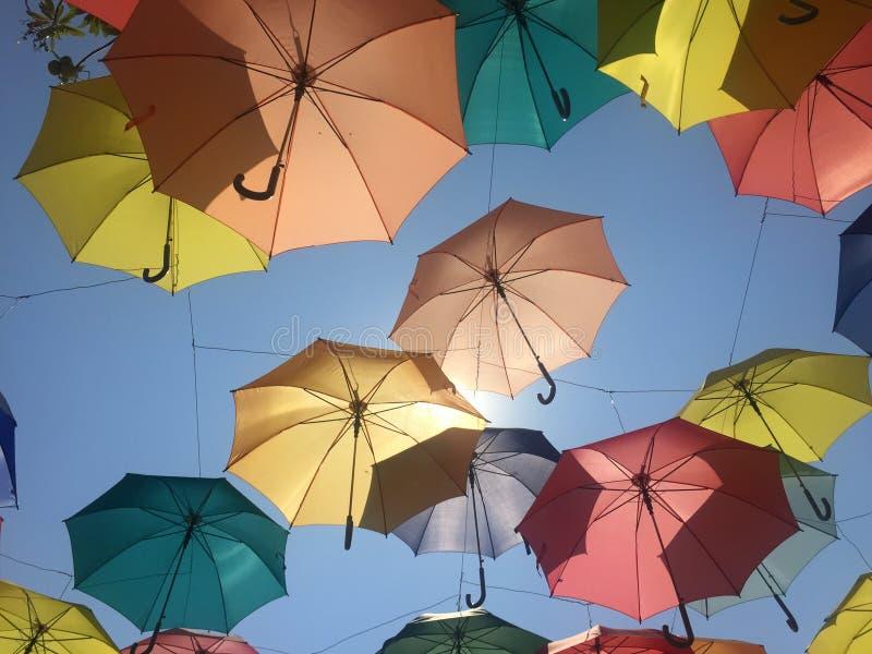 Guarda-chuva colorido imagem de stock