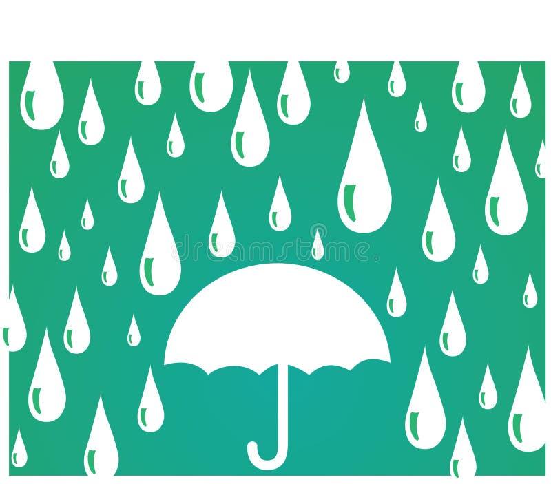Guarda-chuva com pingos de chuva fotografia de stock royalty free