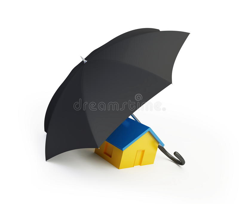 Guarda-chuva da casa ilustração royalty free