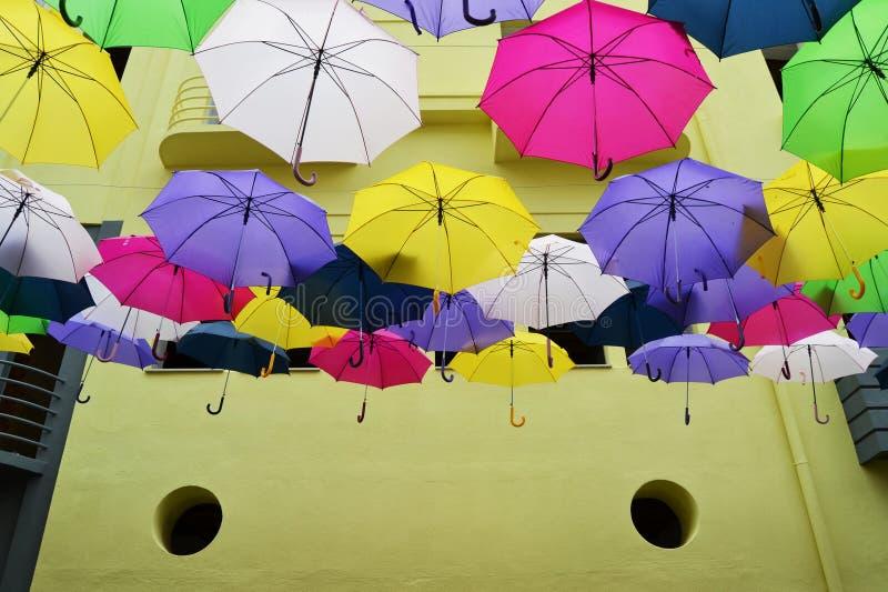 Guarda-chuva de flutuação imagem de stock