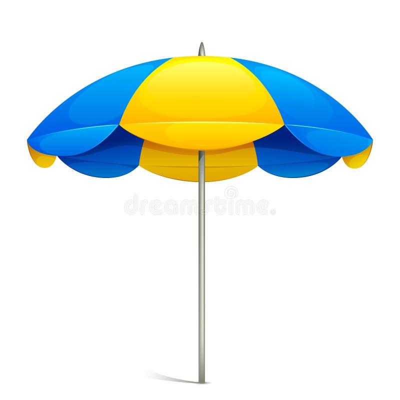 Guarda-chuva de praia ilustração royalty free