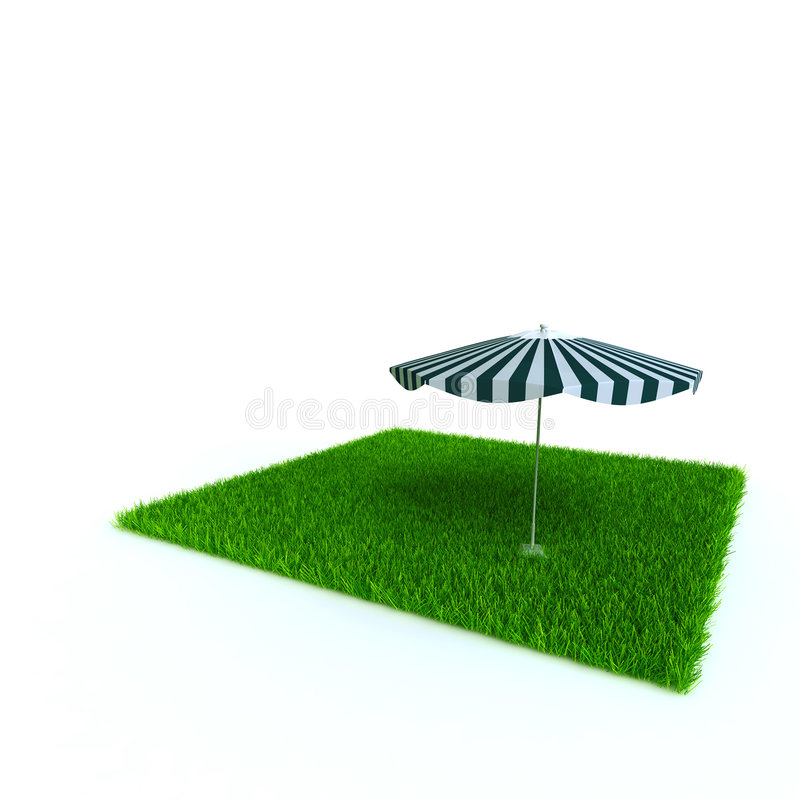 Guarda-chuva de praia ilustração do vetor