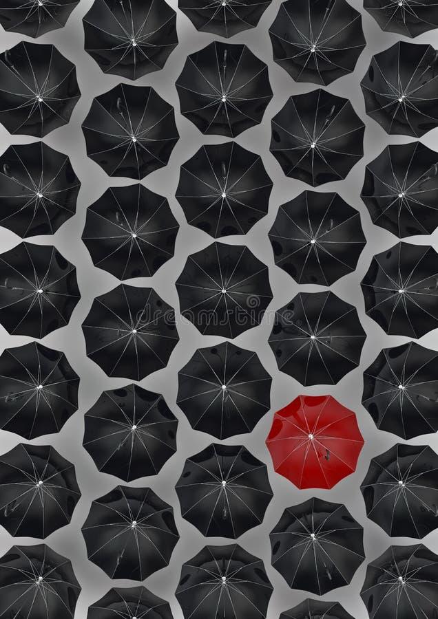 Guarda-chuva diferente ilustração stock