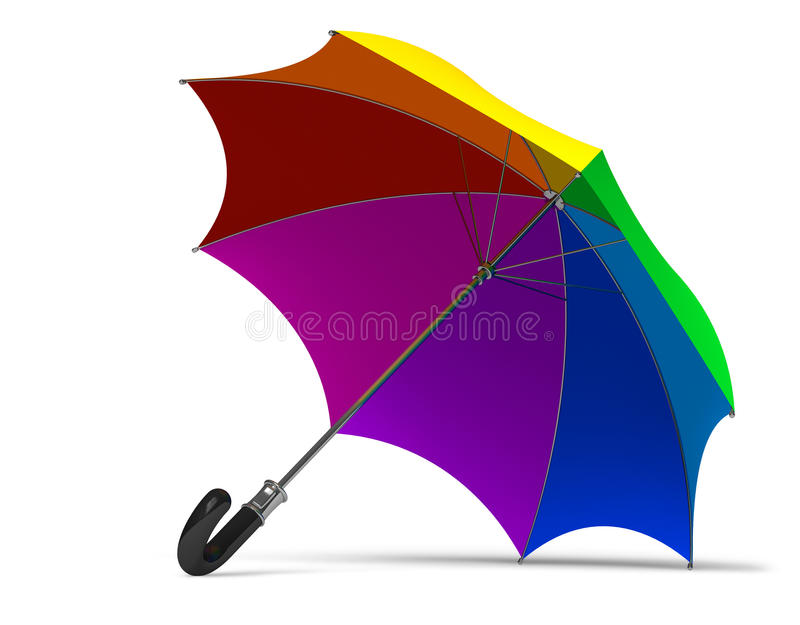 Guarda-chuva do arco-íris ilustração royalty free