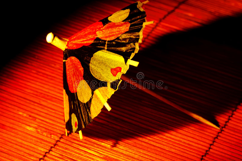 Guarda-chuva do cocktail foto de stock