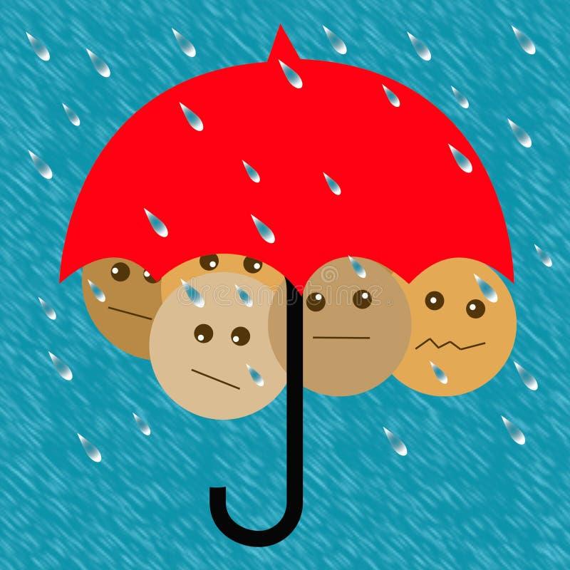 Guarda-chuva do plano adiante ilustração royalty free
