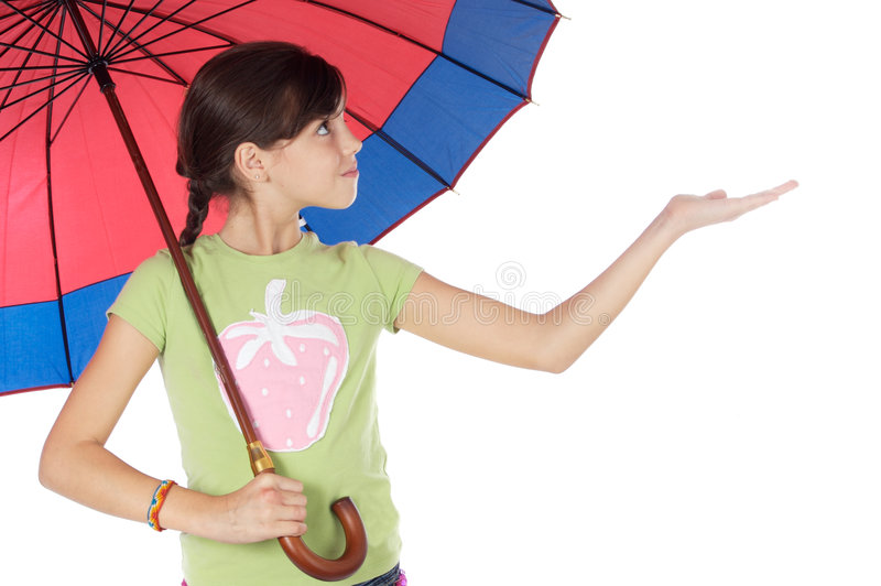 Guarda-chuva do whit da menina imagens de stock royalty free