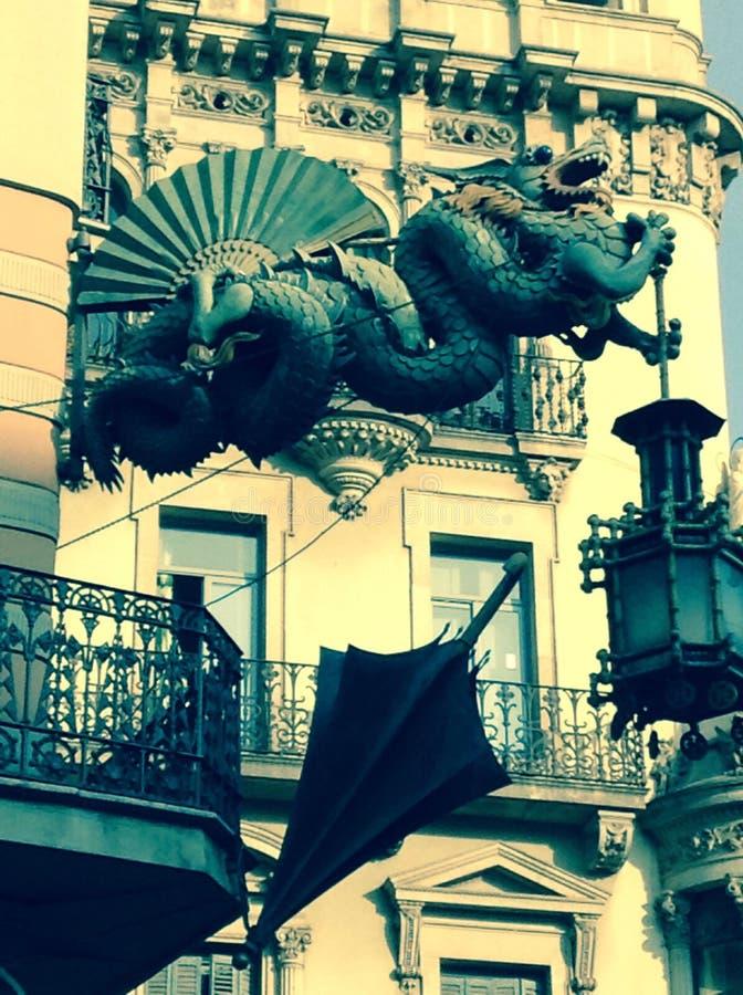 Guarda-chuva Drangon imagem de stock royalty free