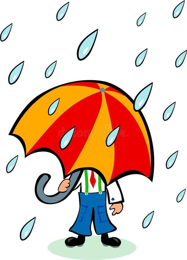 Guarda-chuva grande ilustração stock