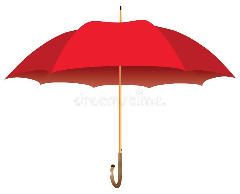 Guarda-chuva grande vermelho ilustração royalty free