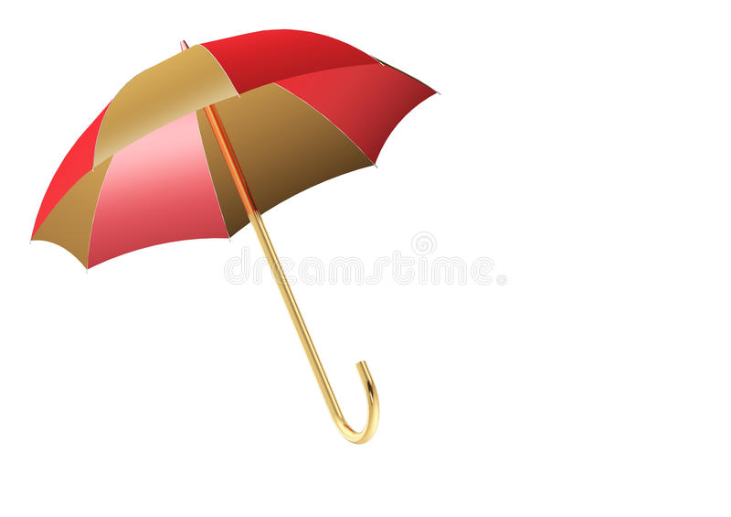 Guarda-chuva isolado no branco imagens de stock