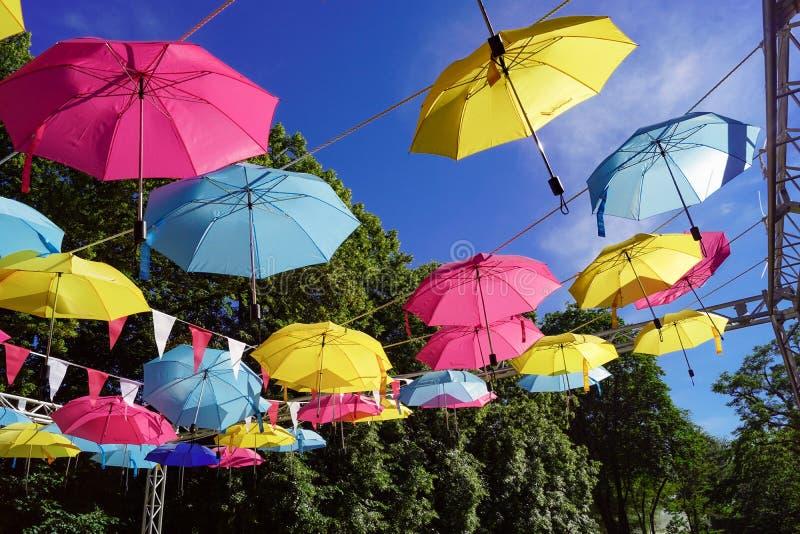 Guarda-chuva multicolorido imagem de stock