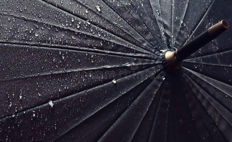 Guarda-chuva nas gotas da chuva imagens de stock royalty free