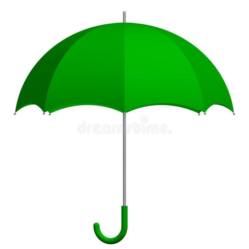 Guarda-chuva verde ilustração royalty free