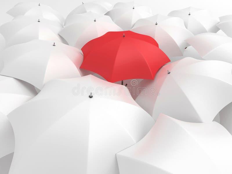 Guarda-chuva vermelho ilustração royalty free