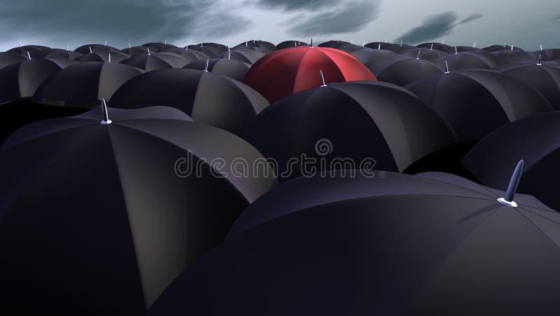 Guarda-chuvas ilustração royalty free
