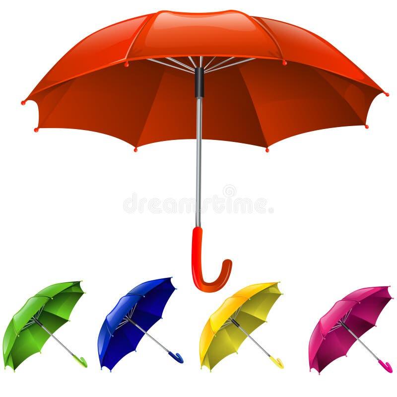 Guarda-chuvas ajustados ilustração royalty free