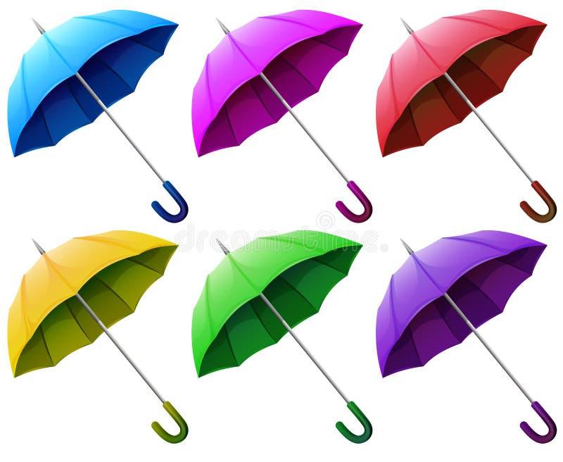 Guarda-chuvas coloridos ilustração royalty free
