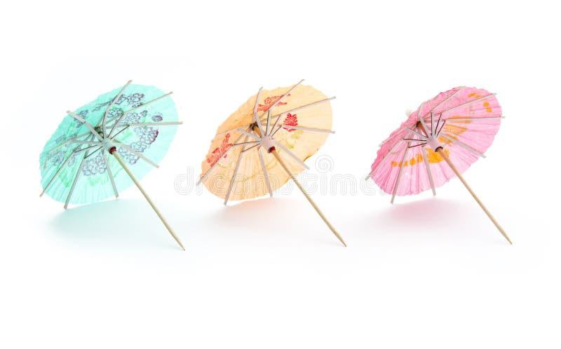Guarda-chuvas da bebida imagens de stock
