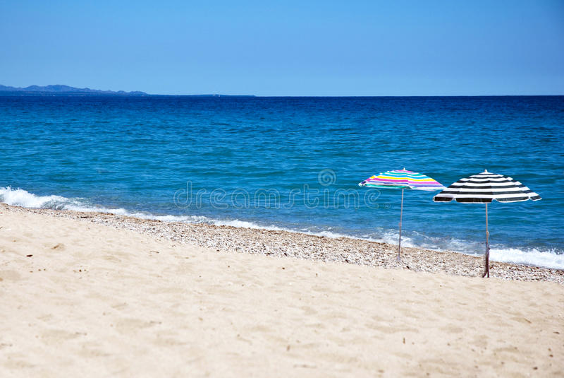 Guarda-chuvas de praia fotografia de stock