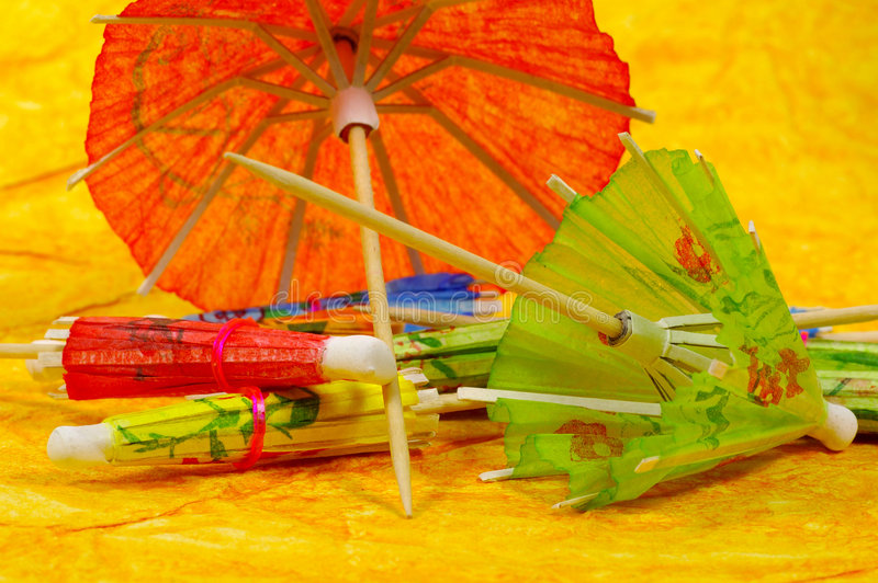 Guarda-chuvas do cocktail foto de stock