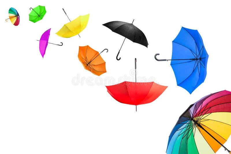 Guarda-chuvas do voo imagens de stock