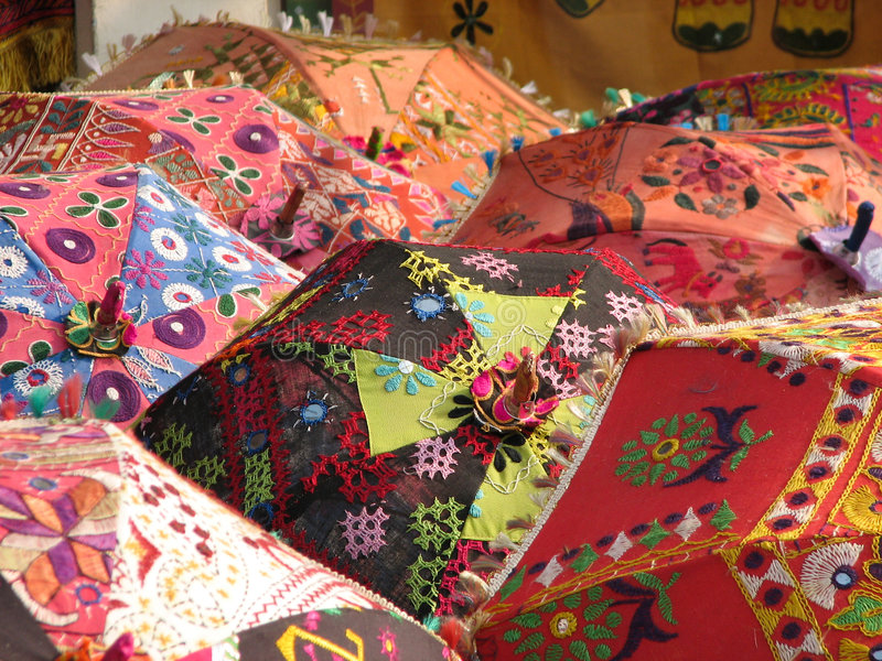 Guarda-chuvas indianos imagens de stock royalty free