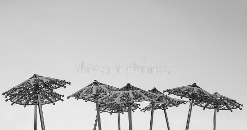 Guarda-chuvas nevado imagens de stock