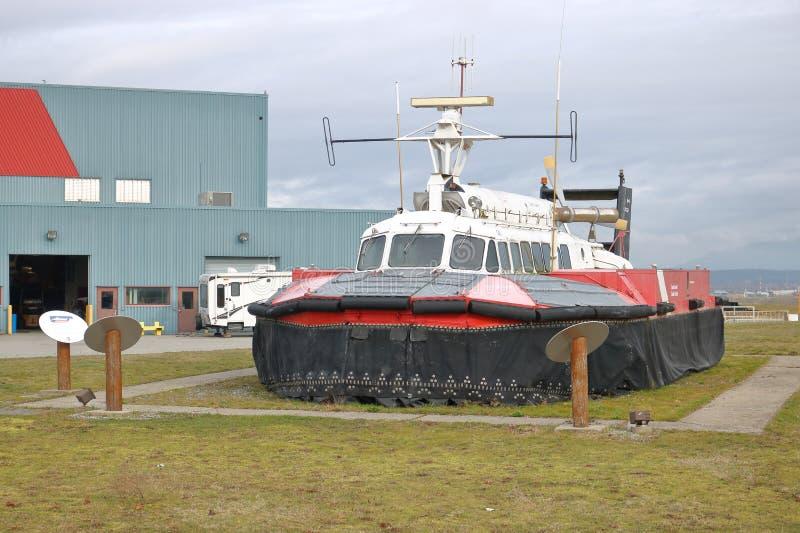 Guarda costeira canadense aposentada Hovercraft imagem de stock royalty free