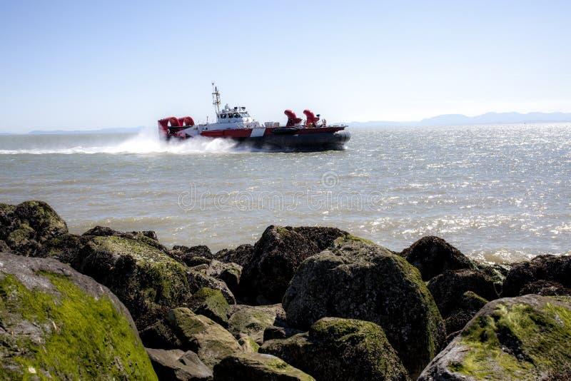 Guarda costeira Hovercraft imagem de stock royalty free