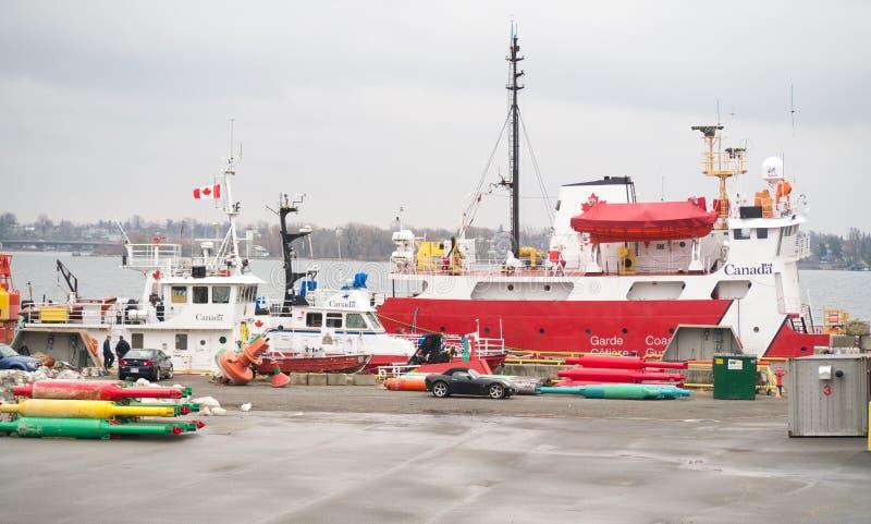 Guarda costeira Ships de Canadá fotografia de stock royalty free