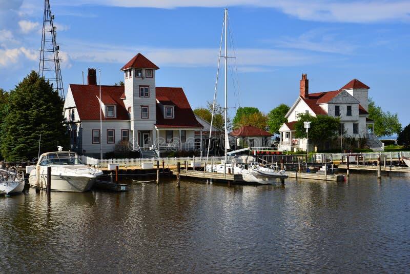 Guarda costeira velha Quarters em Racine Wisconsin imagem de stock royalty free