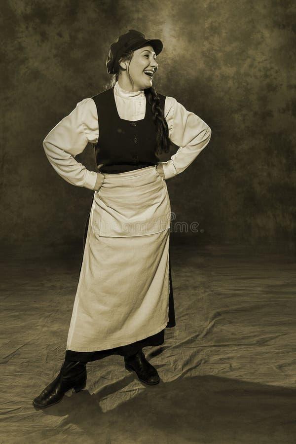 Guarda de serviço da mulher do russo do século XIX fotos de stock royalty free