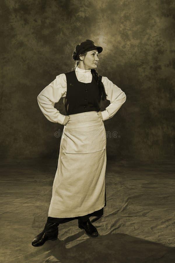 Guarda de serviço da mulher do russo do século XIX imagens de stock royalty free