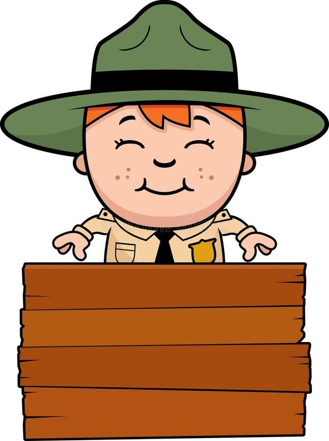 Guarda florestal de parque Sign da criança ilustração royalty free