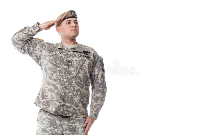 Guarda florestal do exército dos EUA fotografia de stock