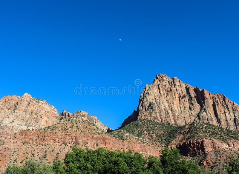 Guarda Mountain, Zion National Park imagens de stock royalty free