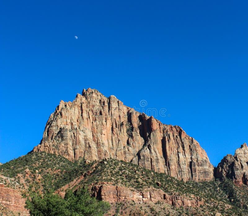 Guarda Mountain, Zion National Park fotografia de stock