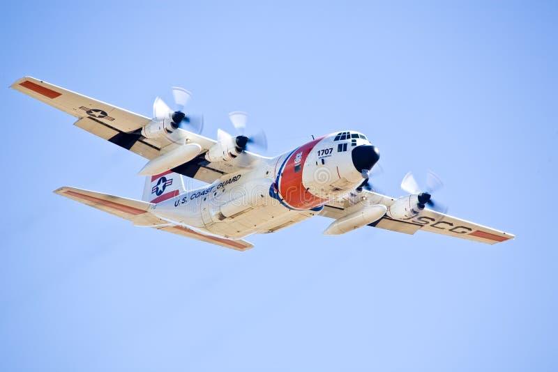 Guardacostas de los E.E.U.U.C-130 Hércules foto de archivo