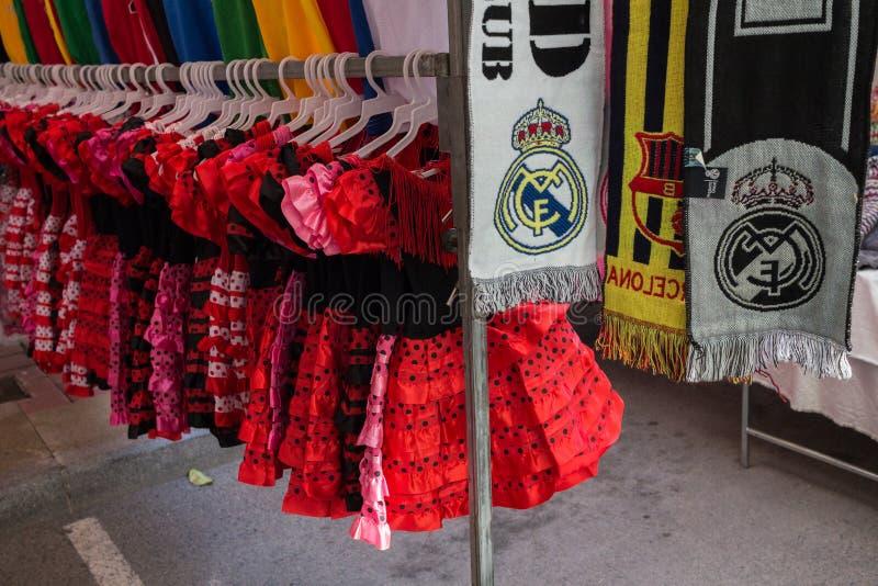 Guardamar straatmarkt stock fotografie