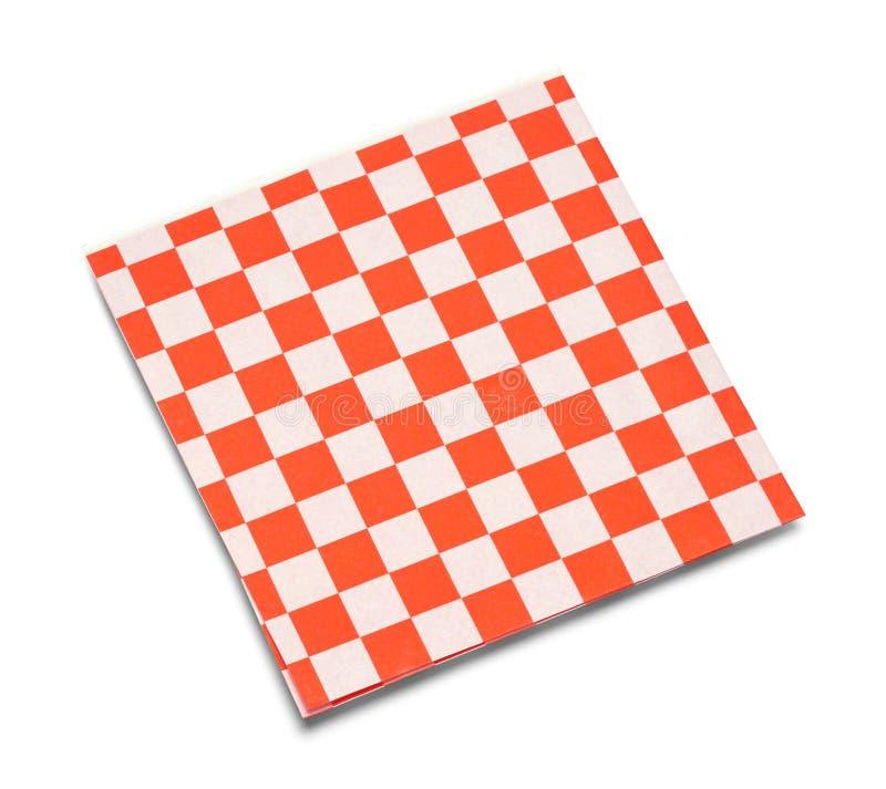 Guardanapo Checkered imagem de stock royalty free
