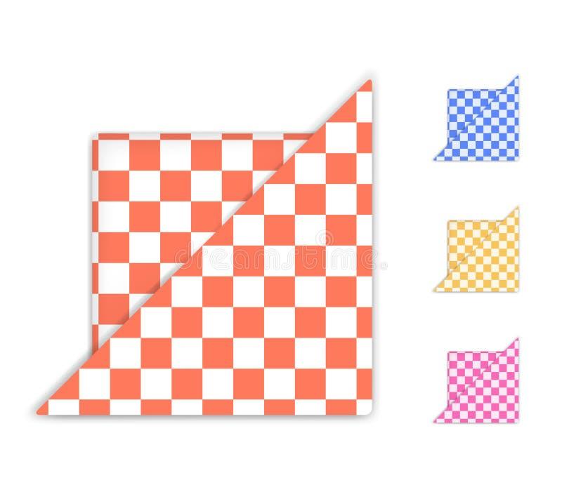 Guardanapo Checkered ilustração stock