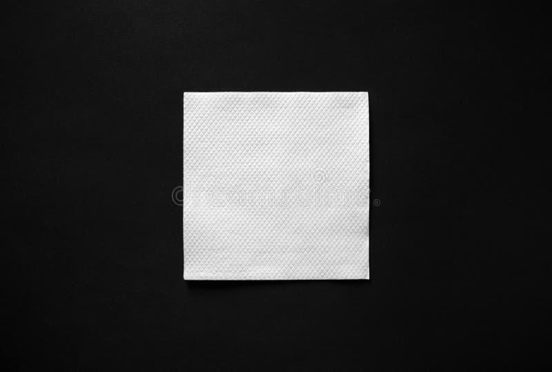 Guardanapo de papel em branco imagens de stock