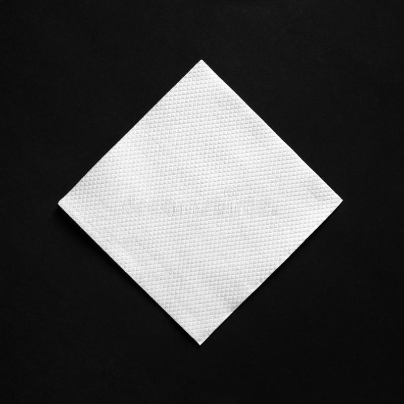 Guardanapo do Livro Branco imagem de stock