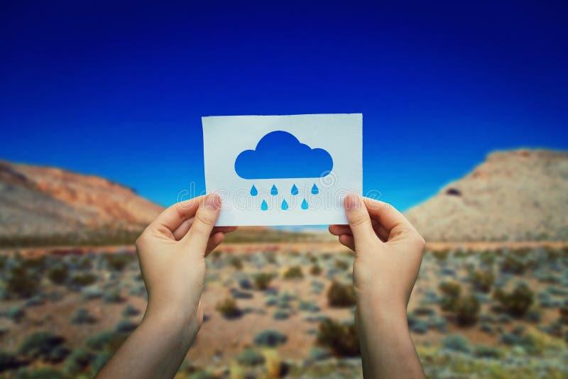 Guardando o ícone da chuva foto de stock royalty free