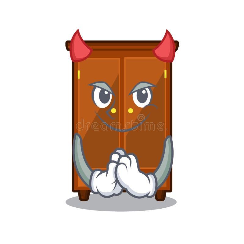 Guardaroba del diavolo isolato nel fumetto di a illustrazione di stock