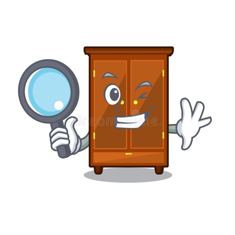 Guardaroba dell'agente investigativo nella forma di carattere di a illustrazione di stock