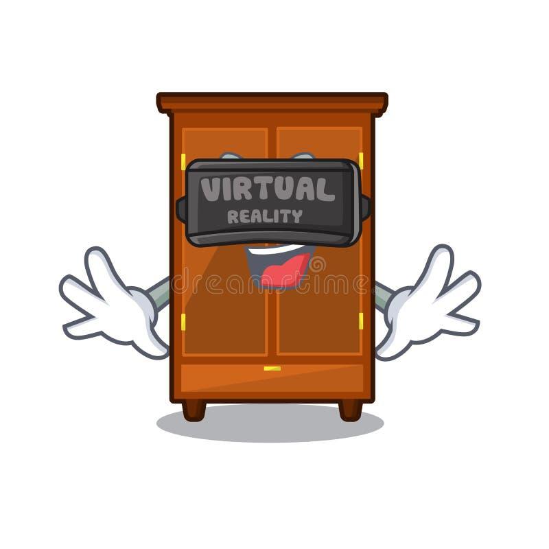 Guardaroba di realtà virtuale isolato nel fumetto di a illustrazione di stock